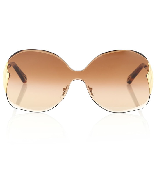 Chloé Curtis round sunglasses in brown