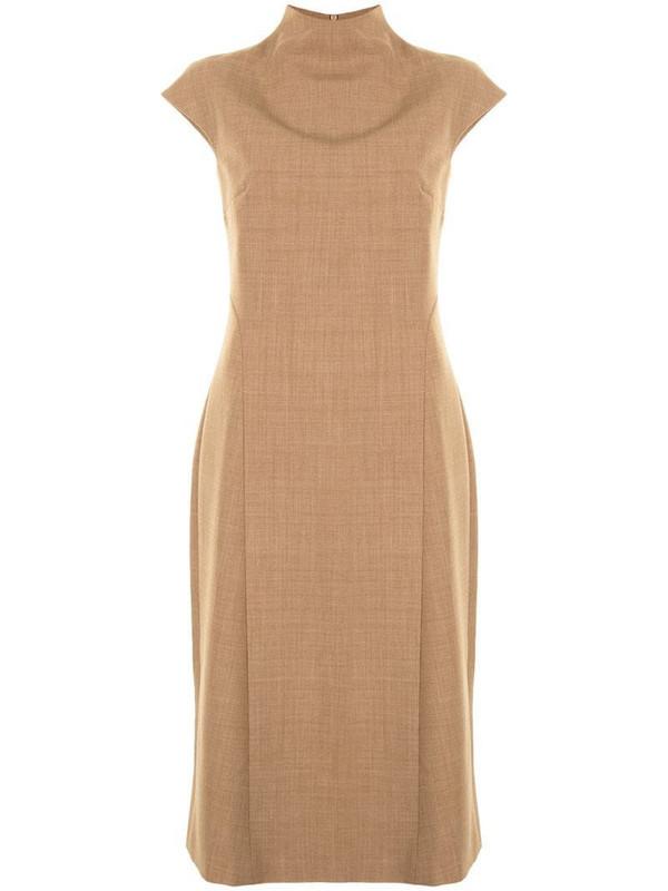 Anna Quan cap sleeve dress in brown