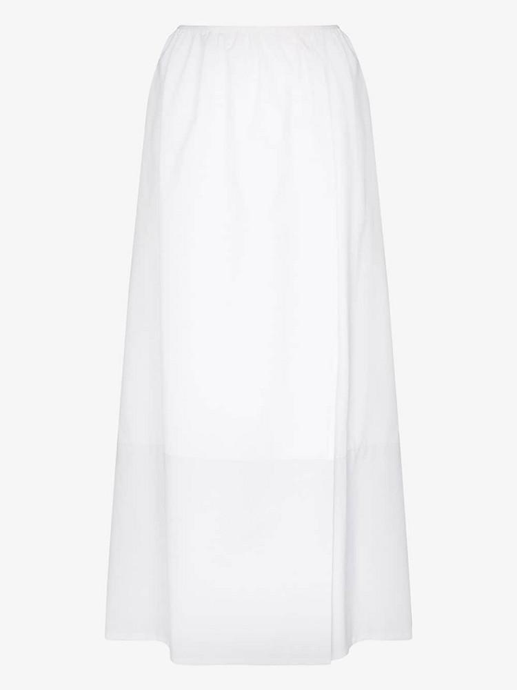 Markoo gathered high waist skirt in white