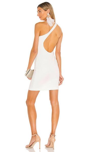 Alice + Olivia Alice + Olivia Rosia One Shoulder Mini Dress in White