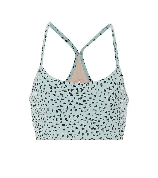 Varley Feliz printed sports bra in turquoise