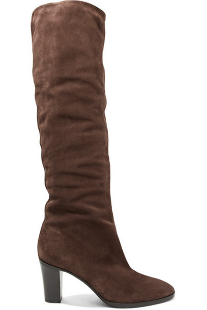 Vince - Casper Suede Knee Boots - Brown