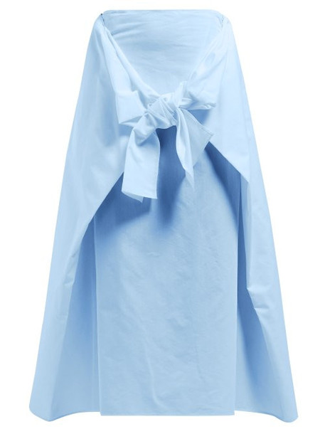 Joseph - Perrin Tie Front Midi Skirt - Womens - Blue