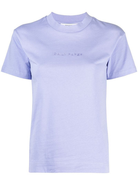 Daily Paper logo print T-shirt in purple