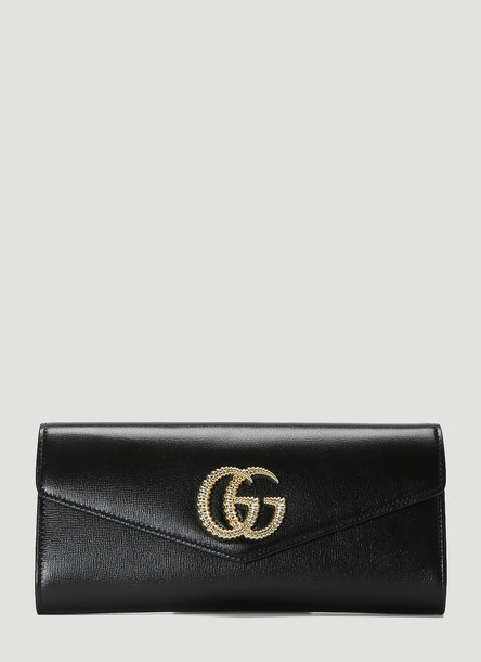 Gucci Broadway Leather Clutch Bag in Black size One Size