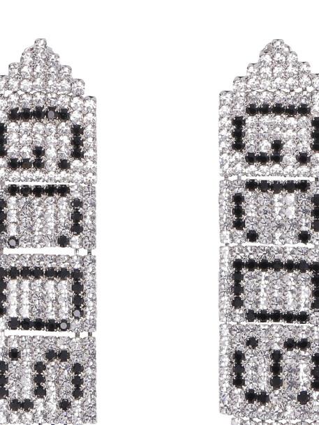 GCDS Logoed Earrings in silver