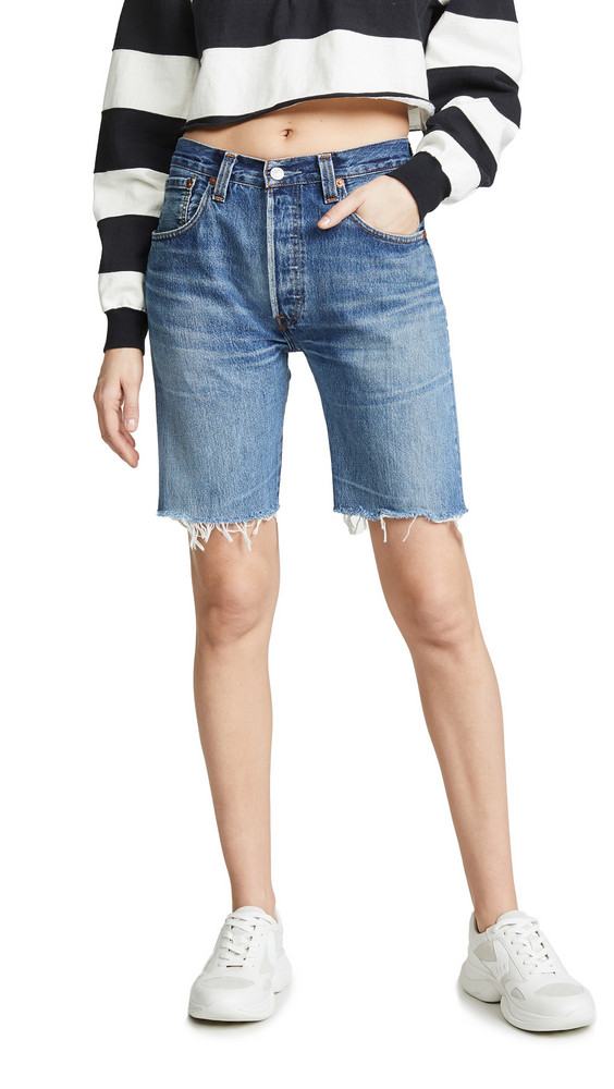 RE/DONE The Long Shorts in indigo