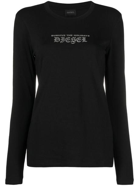 Diesel star print leggings in black