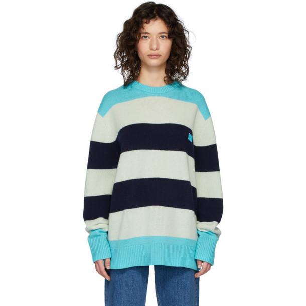 Acne Studios Blue Wool Oversized Nimah Sweater
