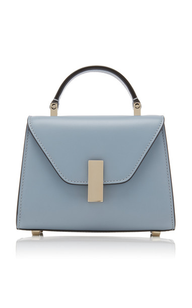 Valextra Iside Micro Leather Shoulder Bag in blue