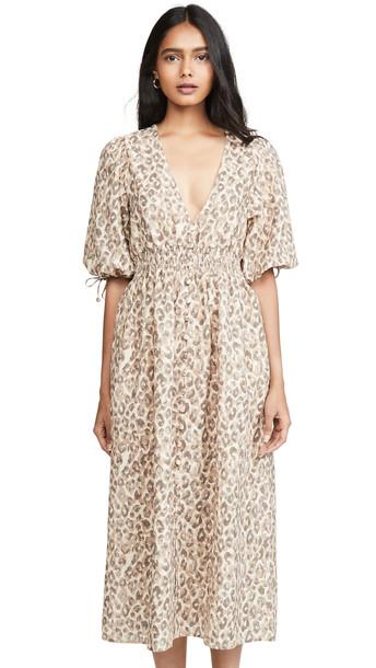 OPT Kotys Linen Dress in beige