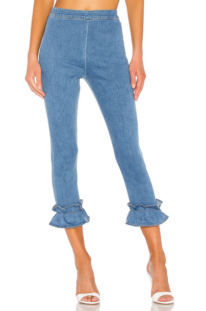 Lovers + Friends Patterson Pant in blue
