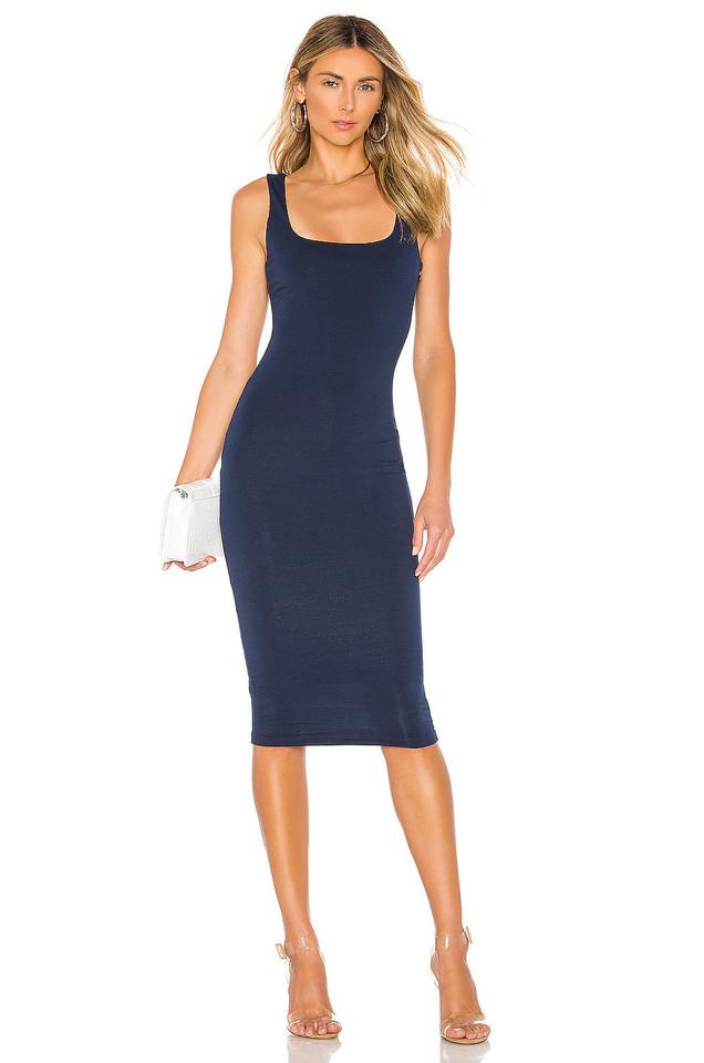 superdown Carlina Square Neck Dress in blue