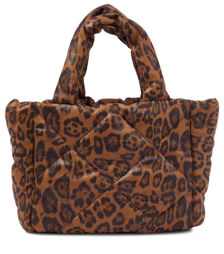Stand Studio Rosanne leopard-print tote in brown