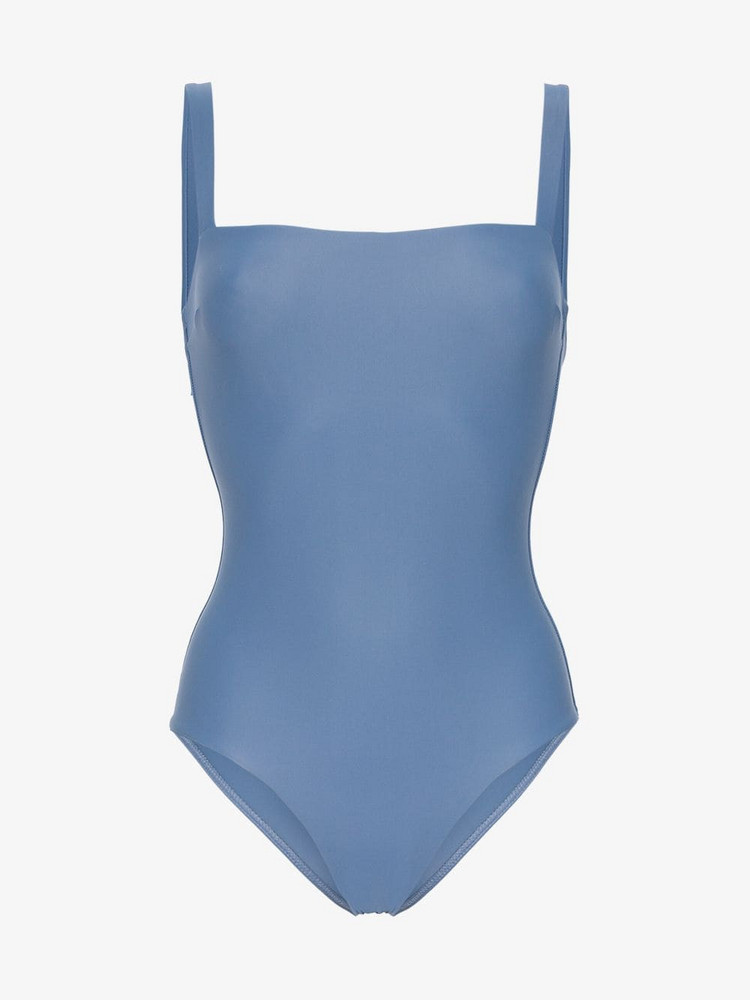 Matteau square maillot swimsuit in blue