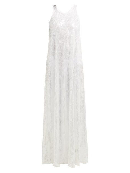Norma Kamali - Sequinned Racer Back Dress - Womens - White