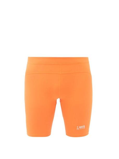 7 Days Active - Sprinter Logo-printed Shorts - Mens - Orange
