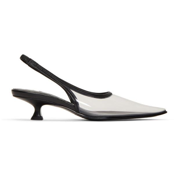 MM6 Maison Margiela Black Transparent PVC Slingback Heels
