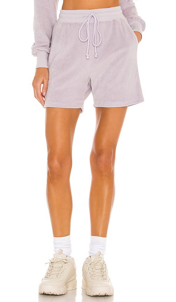Lovers + Friends Lovers + Friends Paxton Terry Short in Lavender