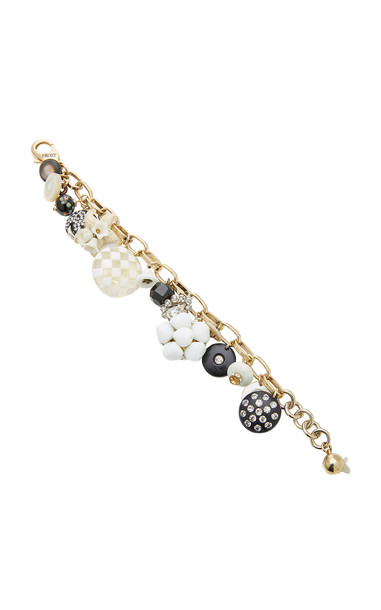 Lulu Frost Gold-Plated Enamel, Crystal and Mother of Pearl Bracelet