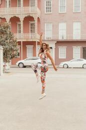 januaryhart,blogger,top,leggings,shoes,sportswear,sports bra