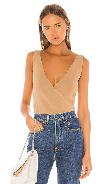 Privacy Please Sure Thing Top in Tan