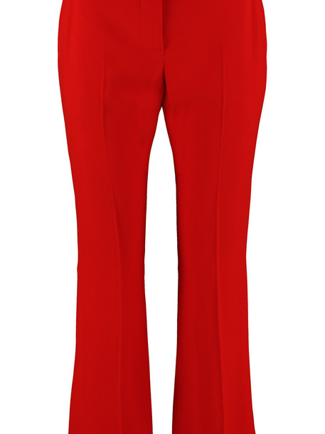 Alexander McQueen Tailored Crepe Trousers in red