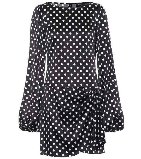 Caroline Constas Leonie stretch-silk minidress in black