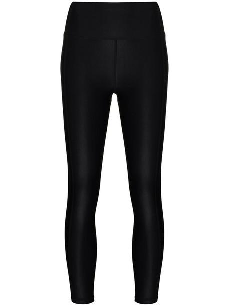 Sweaty Betty high-shine cropped workout leggings in black