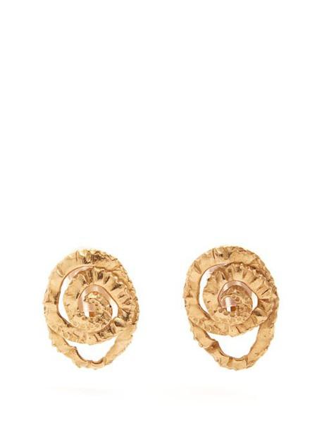 Orit Elhanati - Four Gold Plated Clip Earrings - Womens - Gold