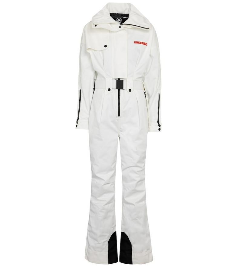 Cordova Teton ski jumpsuit in white