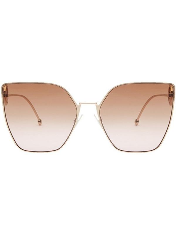 Fendi Eyewear F is Fendi sunglasses in gold