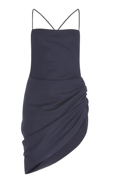 Jacquemus Saudade Wool-Blend Dress in navy