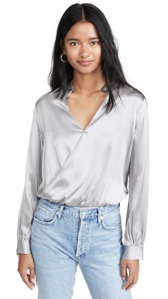 L'AGENCE Marcella Bodysuit in grey