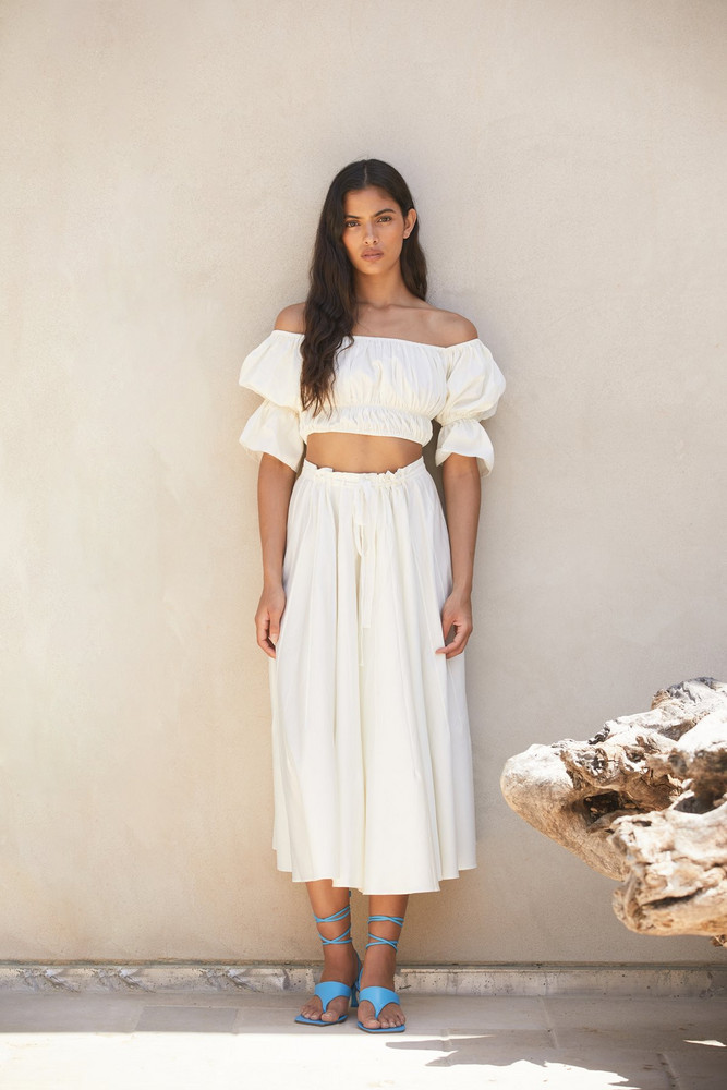 Cult Gaia Sistra Skirt - Off White                                                                                               $398.00