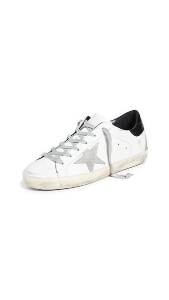Golden Goose Superstar Sneakers in black / cream / white