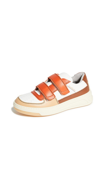 Acne Studios Steffey Mix Sneakers in brown / orange / white