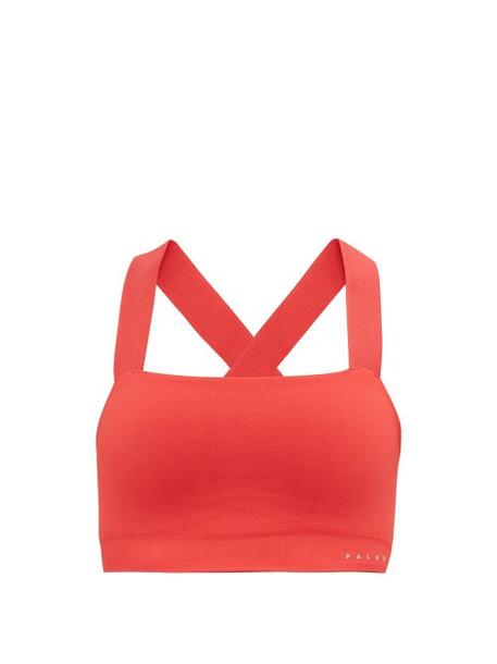 Falke - Le Bandeau Low-impact Sports Bra - Womens - Dark Pink