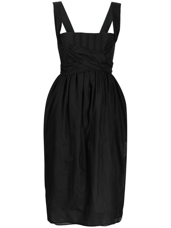 Brock Collection tie-embellished dress in black