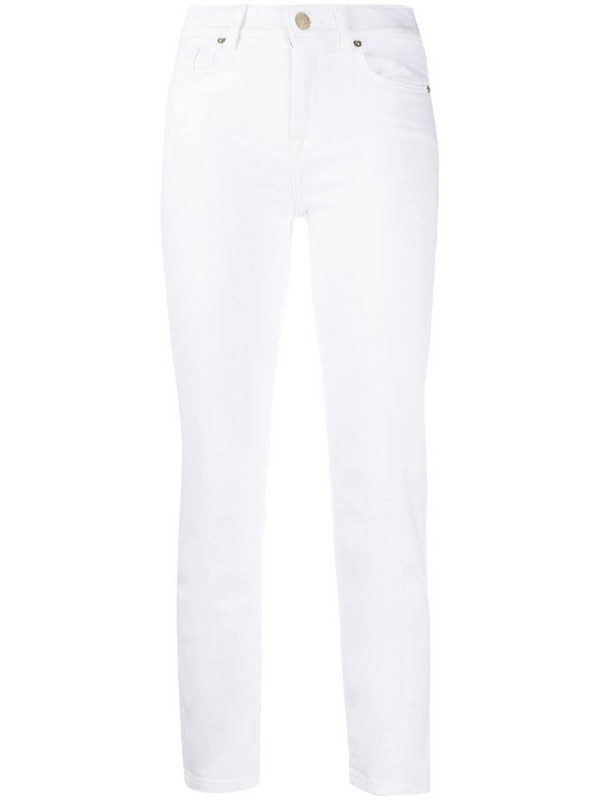 7 For All Mankind Roxanne Ankle jeans in white