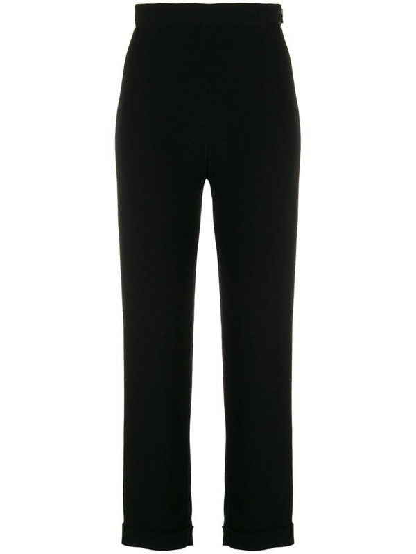 Balmain side zipped trousers in black