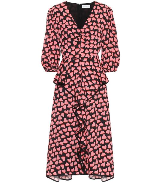Rebecca Vallance Hotel Beau crêpe midi dress in pink