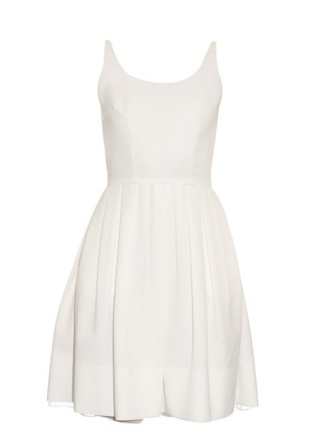 Sophie Theallet - Michelle Diamond Jacquard Pleated Dress - Womens - White