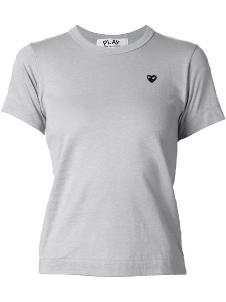 Comme Des Garçons Play embroidered heart T-shirt in grey