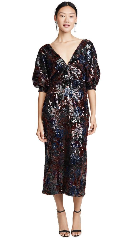 Costarellos Sequin Dress in blue / multi