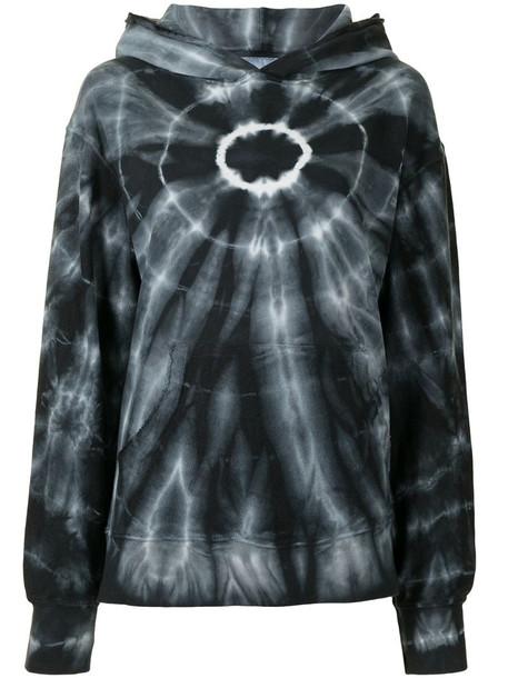 Dannijo tie dye print hoodie in black