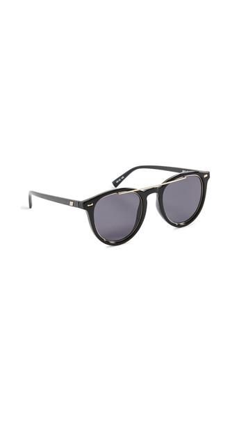 Le Specs Fire Starter Claw Sunglasses in black