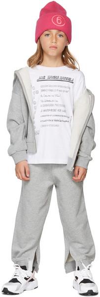 MM6 Maison Margiela Kids Text T-Shirt in white