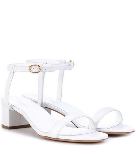 Mansur Gavriel Leather sandals in white