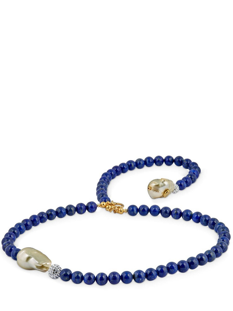 MAGDA BUTRYM Forget Me Not Short Necklace in navy